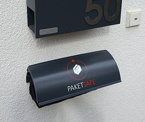 PAKETSAFE – platzsparender Paketsack mit hochwertiger Edestahloptik (anthrazit) - 3
