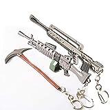 WQWQ Rifle de Asalto Llavero Armas de Fuego Llavero Llavero Juego de Armas Modelo de colección Paquete Llavero,K