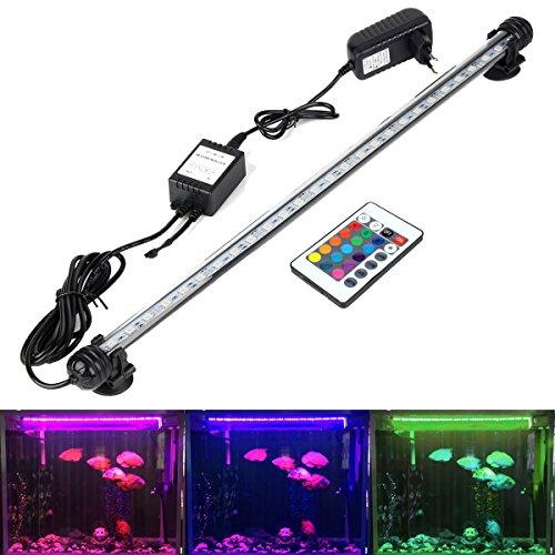 DOCEAN RGB Aquarium Leuchte 5,8W Aquarium LED Beleuchtung Aquarien LED Licht Aquariumlampe 48cm