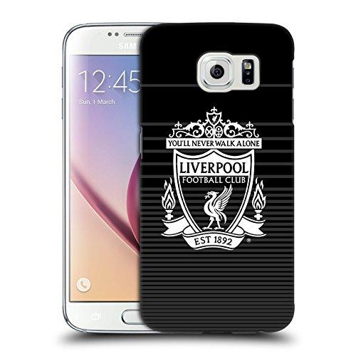 Ufficiale Liverpool Football Club Bianco Third Design Crest Cover Retro Rigida per Samsung Galaxy S6