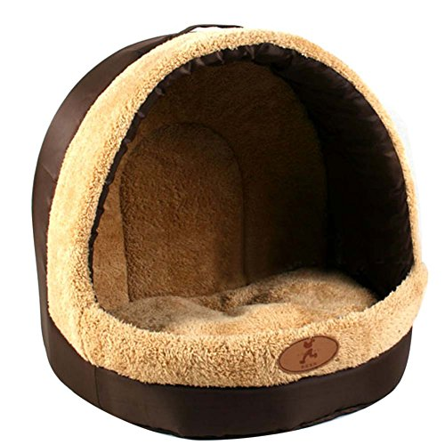 Rokoo pet bed house cave pelo in pile caldo cucciolo gattino morbido cuscino nido per cane gatto