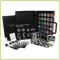 Glimmer Pro Party - Kit per creare tatuaggi con paillettes colorate