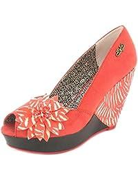 Ruby pour femme Shoo Corail tribaux haute chaussures biseautée-Corail-Tailles :  3–8