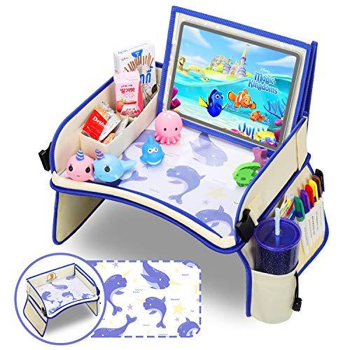 Lenbest Kinder Reisetisch, Narwal Desktop-Muster Knietablett Kinder, 14.5 Inch Einstellbarer Winkel Tablet-Ständer, Multifunktional Knietablett Reisetisch - Enthält keinen Stift