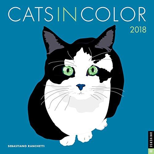 Cats in Color 2018 Wall Calendar