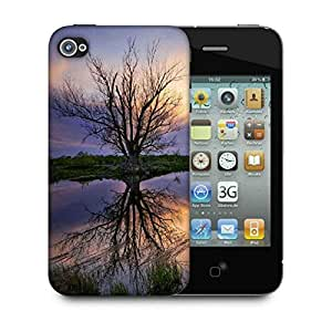 Snoogg Trees Without Leaves Designer Protective Phone Back Case Cover For Apple Iphone 4