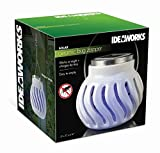 Ideaworks Decorative Solar Bug Zapping Light, Ceramic, White