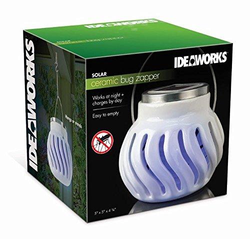 Ideaworks décoratifs solaire Bug appoint à la lumière, EN CÉRAMIQUE, Blanc