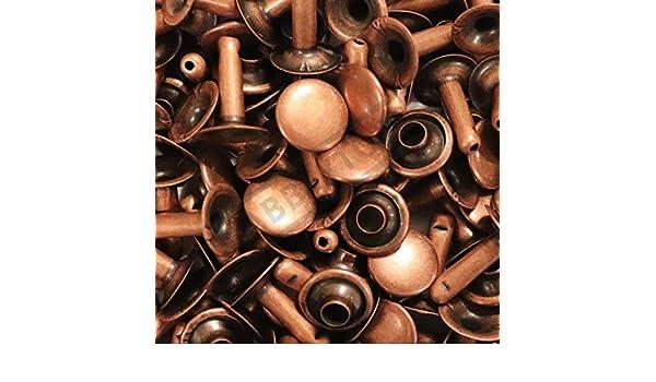 Single Cap Rivets 6x5 7x7 /& 9x8 Stud Rapid Rivets Leather Craft Repair