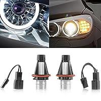 KATUR 2Pcs 6W Angel Eyes Bridgelux Chip LED Marker White For BMW E39 E53 E60 E61 E63 E64 Led Car External Light