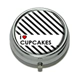 I Love Heart Pillendose Cupcakes