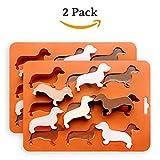 Set aus 2 Silikon-Eiswürfelformen, um perfekt geformte Eiswürfel in Dackelform herzustellen von HAPPY ICE DOG