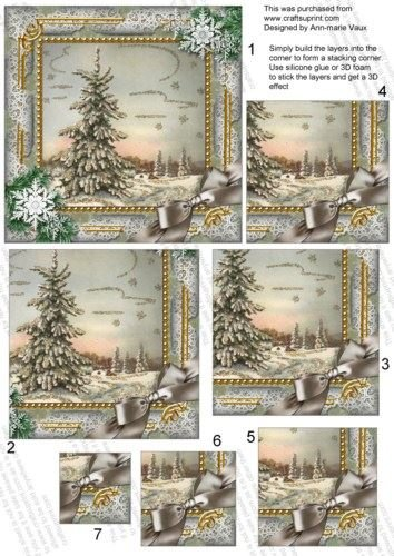 single-tree-snow-5-in-square-one-corner-stacker-by-ann-marie-vaux