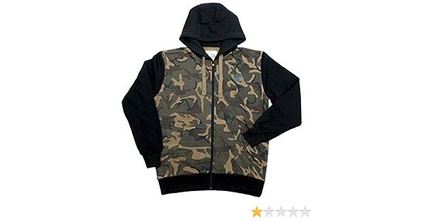 Angelbekleidung Fox Chunk Camo Applique Hoody Black Kapuzenpullover