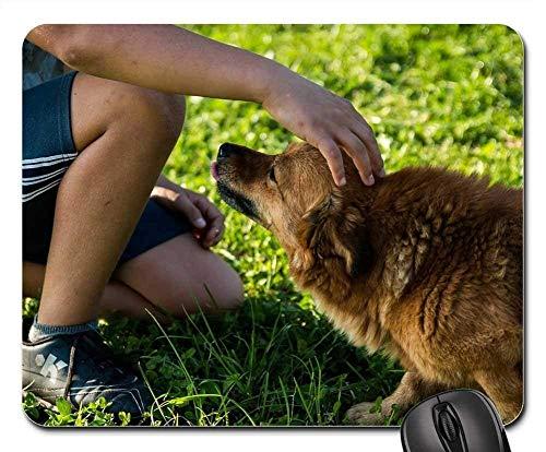 Mauspads - Hund Mann EIN Freund des Mannes Spaß Freundschaft Kind
