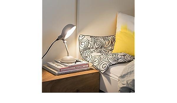 QAZQA Landhaus//Vintage//Rustikal Schreibtischleuchte//Tischleuchte//B/üroleuchte//Tischlampe//Lampe//Leuchte Grabe matt hellgrau//Innenbeleuchtung//Wohnzimmerlampe//Schlafzimmer Metall Kugel