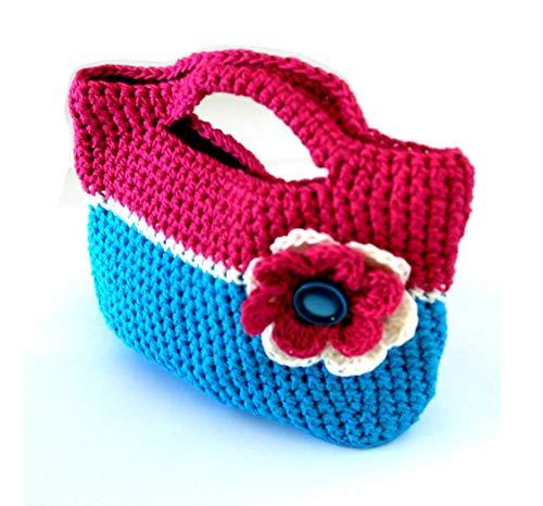 Mädchen häkeln handtasche, Mädchen tasche, Blume tasche, Einkaufstasche, Kleine mädchen handtasche, Kleinkind tasche, kleine mädchen geldbörse, Tasche