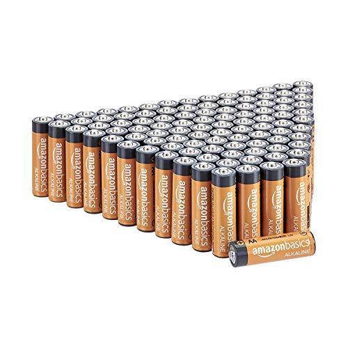 AmazonBasics AA-Alkalibatterien, leistungsstark, 1,5V, 100 Stück (Aussehen kann variieren)