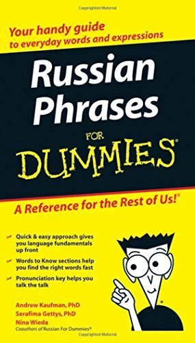 Portada del libro Russian Phrases For Dummies by Andrew D. Kaufman (2007-09-04)