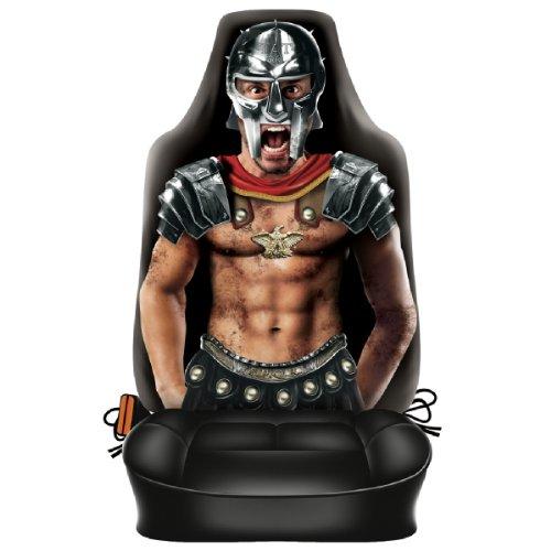 Preisvergleich Produktbild Lustiger Fun Auto-Sitzbezug: Strong Brutal Gladiator - Täuschend echt