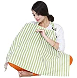 #4: Lula Mom Green Stripes Feeding/Nursing Cover