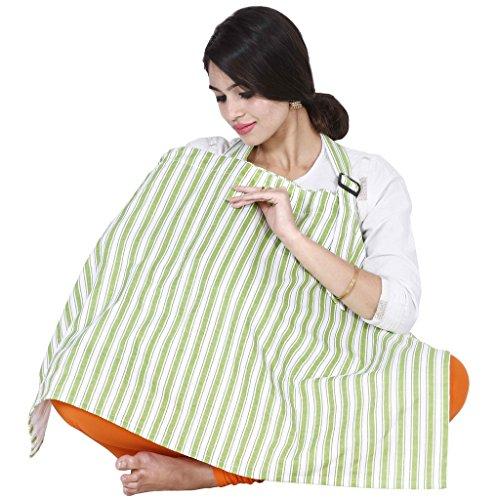 Lula Mom Green Stripes Feeding/Nursing Cover