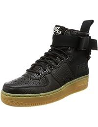 Nike SF Air Force 1 Mid Womens Shoes Black/Black/Gum Light Brown aa3966-002 (8 B(M) US)