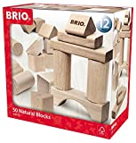 BRIO Infant & Toddler - 50pc Building Blocks - Natural