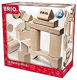 Brio GmbH BRIO 30113 - Natur Holzbausteine, 50 Teile