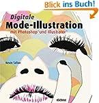Digitale Mode-Illustration mit Photos...