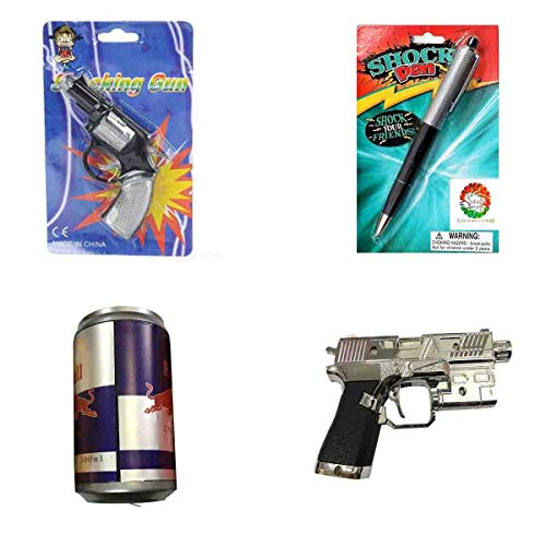 Combo of Shock Gun with Pen, Coldrink Cane and Gun for Prank