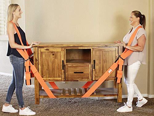 Warmiehomy Tragegurte Umzug Transportgurt Doppelschultergurt für 2 Personen Hebegurt zum einfachen heben schwerer Geräte Gegenstände für möbel und umzug bis 110 Kg