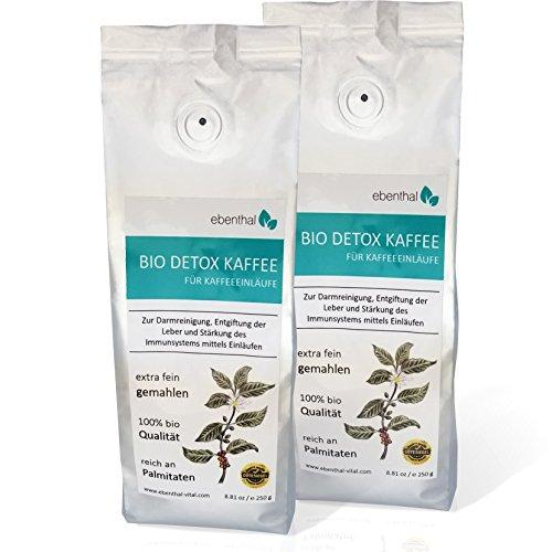 EBENTHAL TM Detox-Kaffee: Einlauf-Kaffee zur Darm-Reinigung 250 g 2er Pack