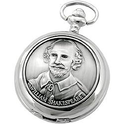 A E Williams 4829 William Shakespeare mens quartz pocket watch with chain