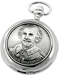 A E Williams 4829SK William Shakespearemens mechanical pocket watch with chain