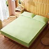Unknow Cotone Lenzuolo 100x200 cm, Lenzuolo con Angoli con Frutta Verde Lenzuolo con Angoli 100% Jersey di Cotone Elasticizzato
