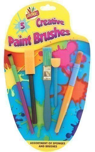 5x Kreative Schwamm Farbe Kleber Pinsel Set Kunst Basteln Malerei Kinder (Kunst-set Kinder Für)