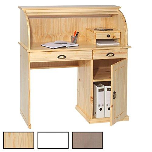 IDIMEX Sekretär Schreibtisch Dallas Schreibkommode im Landhaustil mit Schubladen und Rolladen,