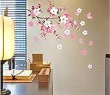 Amovible Stickers Muraux Mur Autocollant Fleurs Papillon Decal Art Diy Maison Decoration de la maison YHF-0110...