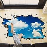XPY-wall sticker Wandtattoos wandaufkleber Wandbilder Tapeten Wandsticker-Kreatives dreidimensionales Hauptwandaufkleber-Decken-Fernsehsofa 3D Blauer Himmel und Weiße Wolkenaufkleber, 60 * 90CM