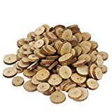 #7: Baoblae Pack of 200 Rustic Pine Tree Slices Wood Slices DIY Crafts Wedding Table Decoration