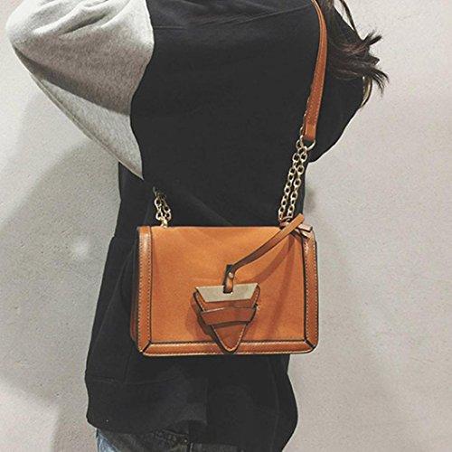 ae0e7899d9ee2 ... BZLine® Frauen Leder Handtasche kleine Messenger Schulter Square  Vintage Taschen Braun