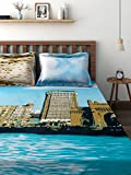 Raymond Cotton Double Bedsheet with 4 Pi...