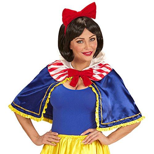 hen Umhang und Haarreif Märchen Cape zum Kostüm Prinzessin Damenkostüm Zubehör Märchenkostüm Snow White ()