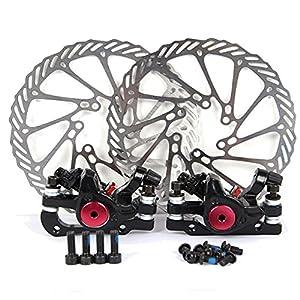 Yorbay H63 Fahrrad NV-5 Scheibenbremsen G3 160mm Bremsscheibe und vorne hinten Schwarz Bremse mit BB5 Bremsbeläge, 16 x 16 x 7 cm
