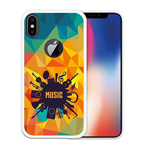 iPhone X Hülle, WoowCase Handyhülle Silikon für [ iPhone X ] Regenbogen Eule Handytasche Handy Cover Case Schutzhülle Flexible TPU - Transparent Housse Gel iPhone X Transparent D0128