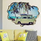 Wand Sticker Wohnmobil Wandkunst Wandmalerei Entfernbarer Selbstklebend Aufkleber Kinderzimmer Kindergarten Kinderzimmer Restaurant Cafe Hotel Wohndeko