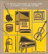 Les facteurs d'instruments de musique actifs en Wallonie et à Bruxelles en 1985