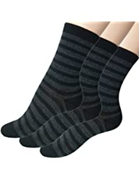 Loonysocks, 3 Pair of Our Best Socks Made of Super Soft Ascona Merino Wool Women/ Ladies, Black & Grey Socks