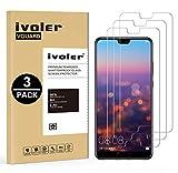 iVoler [Pack de 3] Verre Trempé pour Huawei P20, Film Protection en Verre trempé écran Protecteur vitre